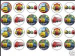 24 x Chuggington 1.6'' rice paper cake toppers tops